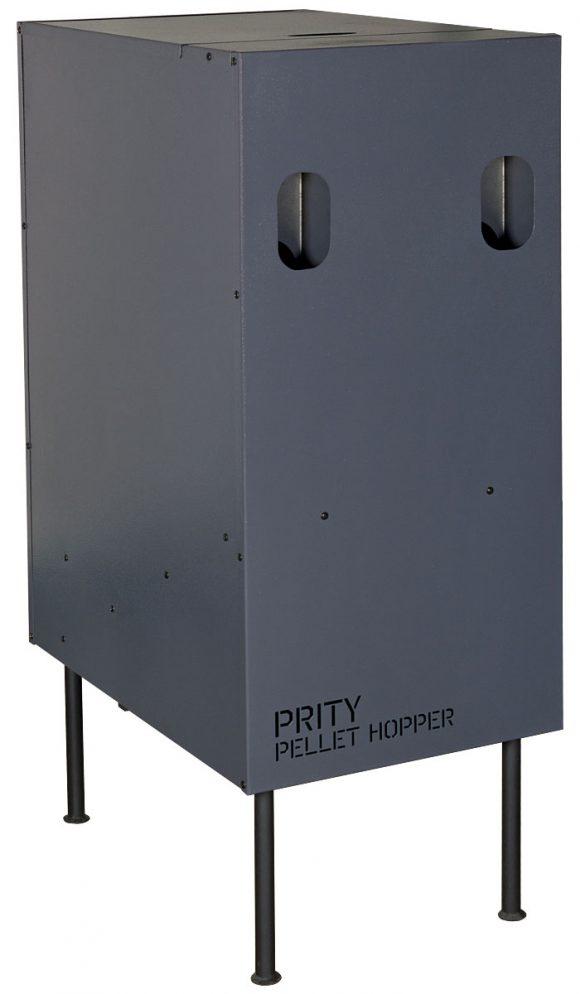 Prity pellet hopper FRONT 45 on legs